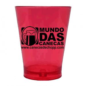 copo shot vermelho neon